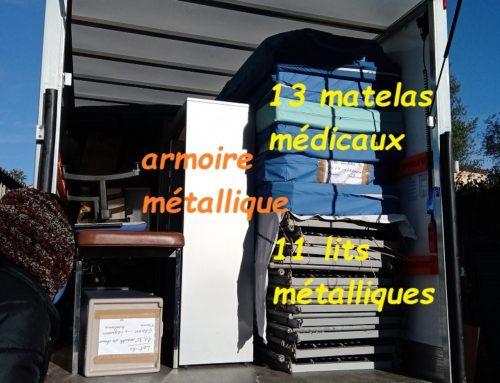 Notre container chargé de matériel médical a commencé son trajet à destination de Legmoin!!